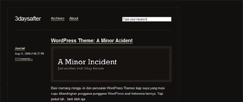 A Minor Acident | Rian Triharyana